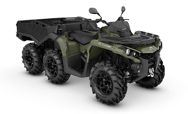 canam outlander 6x6 650 dps flat bed