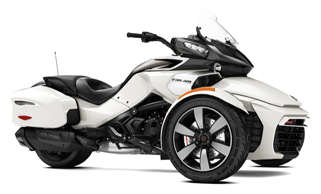 canam spyder f3 t my18 pearl white