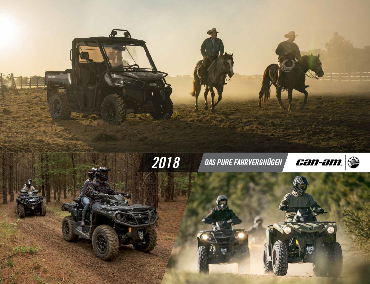 Can Am ATV SSV Katalog LineUp 2018