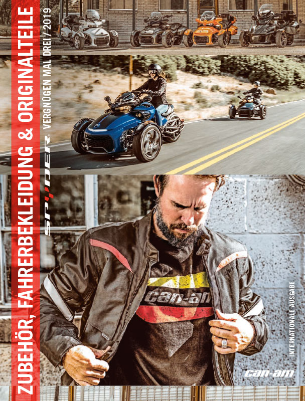 Can Am On Road Spyder PAC Katalog MY19 de